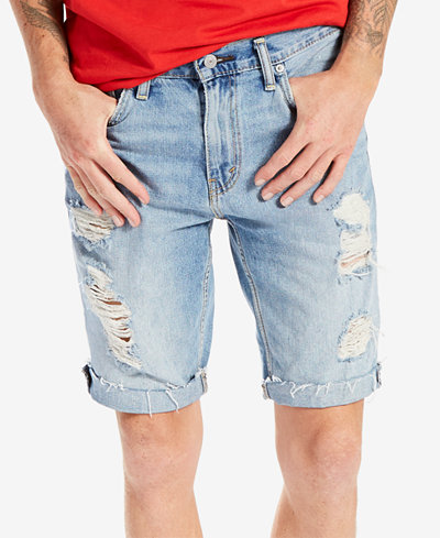 Levi's® Men's 511 Slim-Fit Cutoff Ripped Jean Shorts - Shorts ...