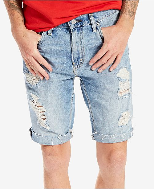 cb7762fc2c Levi's Men's 511 Slim-Fit Cutoff Ripped Jean Shorts & Reviews ...