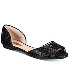 I.N.C. Women's Elsah Embellished d'Orsay Flats, Created for Macy's