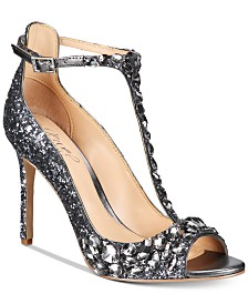 Jewel Badgley Mischka Conroy T-Strap Evening Sandals