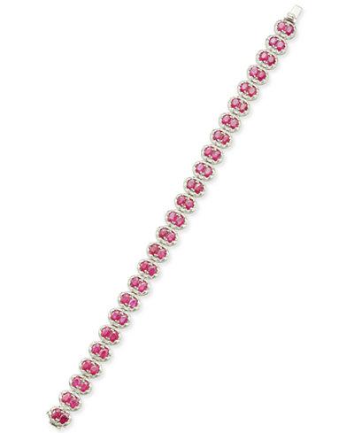 Certified Ruby Tennis Bracelet (12 ct. t.w.) in Sterling Silver, Created for Macy's