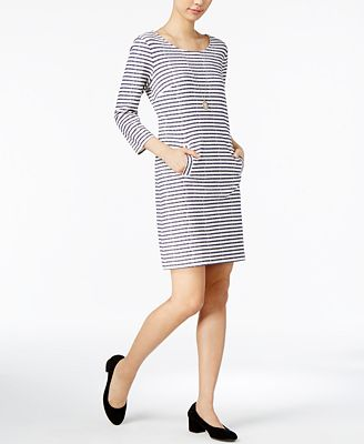 Maison Jules Striped Shift Dress, Created for Macy's