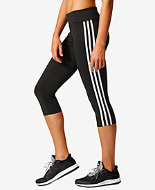 adidas D2M Three Stripes Climalite® Cropped Leggings