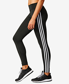 adidas ClimaLite® D2M Three Stripes Long Leggings