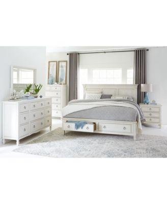 Furniture Sag Harbor White Bedroom Furniture Collection, 3 Piece