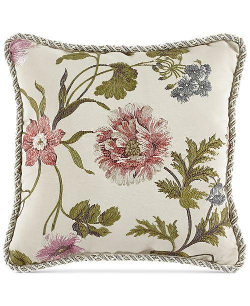 """Croscill Daphne 18"""" Square Decorative  Pillow"""