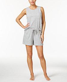 Nautica Striped Tank Top & Boxer Pajama Shorts Sleep Separates