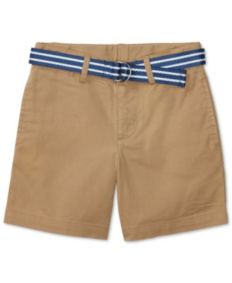 Image of Ralph Lauren Stripe Belt and Twill Shorts, Toddler & Little Boys (2T-7)
