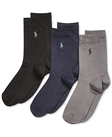 3-Pk. Supersoft Flat Solid Crew Socks, Little Boys & Big Boys
