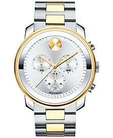 Men's Swiss Chronograph Bold Two-Tone Stainless Steel Bracelet Watch 42mm 3600432