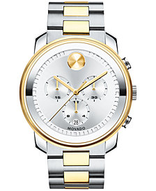 Movado Men's Swiss Chronograph Bold Two-Tone Stainless Steel Bracelet Watch 42mm 3600432