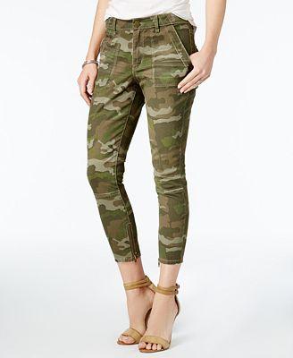 WILLIAM RAST Cropped Skinny Camo Cargo Pants - Pants - Women - Macy's