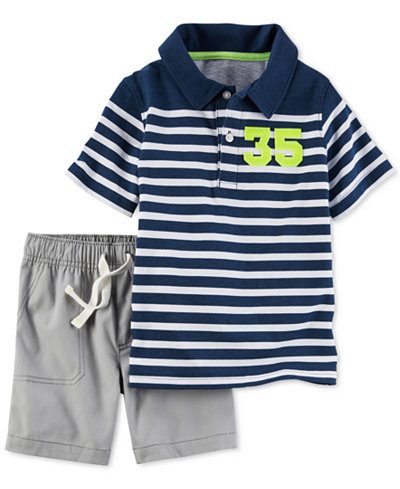 Carter's 2-Pc. Cotton Polo & Shorts Set, Toddler Boys (2T-4T)