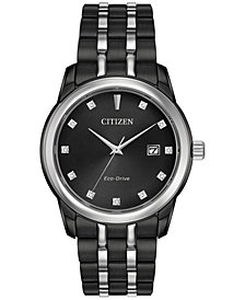 Citizen Men's Eco-Drive Corso Diamond Accent Two-Tone Stainless Steel Bracelet Watch 38mm BM7348-53E