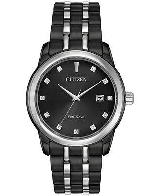 Citizen Men's Eco-Drive Corso Diamond Accent Two-Tone Stainless Steel Bracelet Watch 38mm BM7348-53E