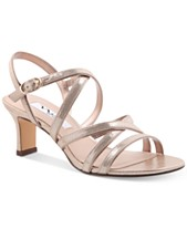 f808285583e84 Nina Genaya Strappy Evening Sandals