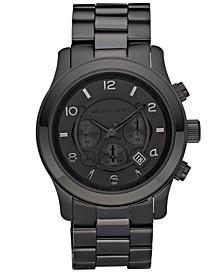 Men's Runway Black Ion Plated Stainless Steel Bracelet Watch 45mm MK8157