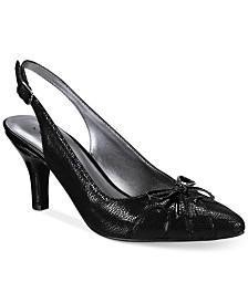 Karen Scott Womens Fawna Closed Toe Wedge Pumps Black Size 8.5 syGe