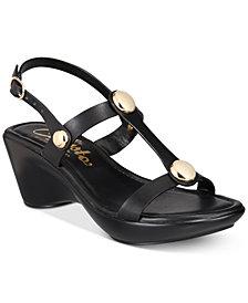 Callisto Toggle Wedge Sandals