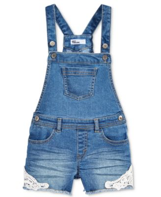 Image of Epic Threads Denim Overall Shorts, Toddler & Little Girls (2T-6X), Only at Macy's