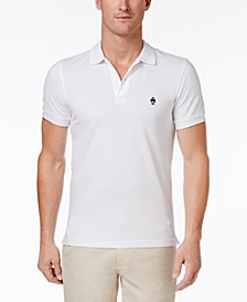 Men's Slim-Fit Pique Knit Cotton Polo