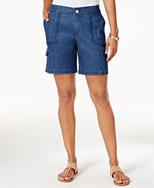 Style & Co Petite Cargo Bermuda Shorts, Created for Macy's