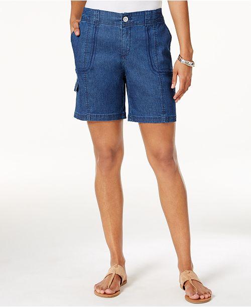 Style & Co Petite Zig-Zag Cargo Shorts, Created for Macy's