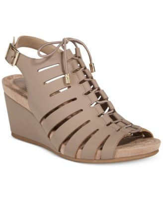 Image of Giani Bernini Carisaa Ghillie Wedge Sandals, Only At Macy's