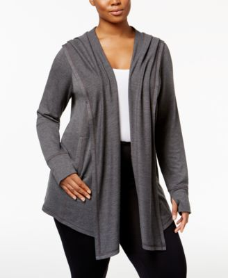 Ideology Plus Size Hooded Wrap, Only at Macy's