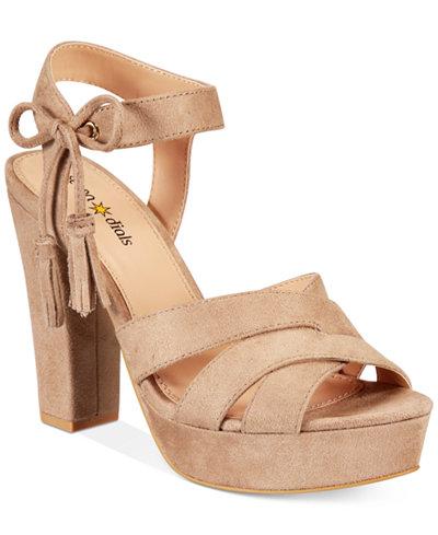 Seven Dials Naomi Platform Block-Heel Sandals