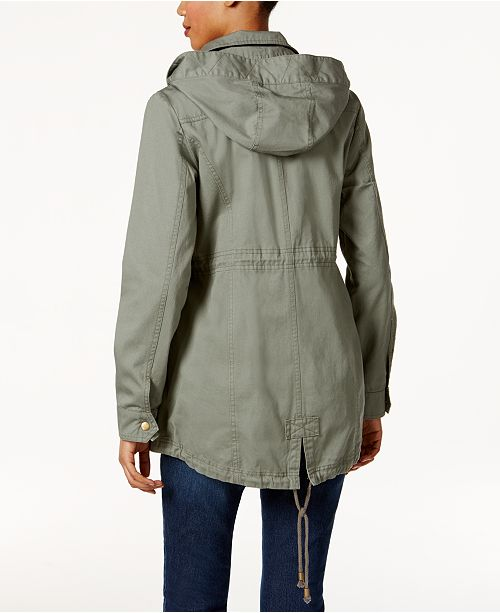 30e0bfb03bd66 Style & Co Cotton Hooded Utility Jacket, Created for Macy's ...