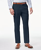 INC International Concepts Men's Linen Stretch Slim-Fit Pants, Created for Macy's
