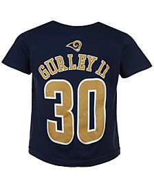 Outerstuff Todd Gurley Los Angeles Rams Mainliner Player T-Shirt, Toddler Boys' (2T-4T)