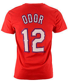 Majestic Rougned Odor Texas Rangers Official Player T-Shirt, Big Boys (8-20)