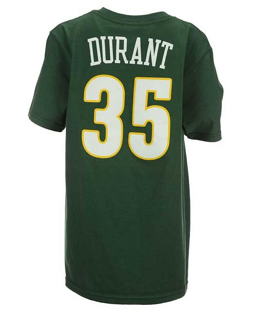 adidas Kevin Durant Seattle SuperSonics Name And Number T-Shirt, Big Boys (8-20)