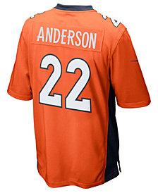 Nike C.J. Anderson Denver Broncos Game Jersey, Big Boys (8-20)