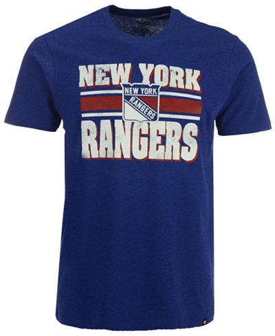 '47 Brand Men's New York Rangers Stripe Knockaround Club T-Shirt