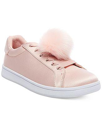 Madden Girl Baabee Pom-Pom Sneakers
