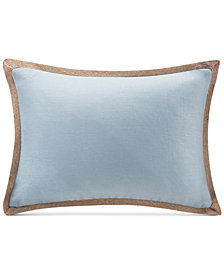 "Madison Park 14"" x 20"" Oblong Linen with Jute Trim Decorative Pillow"