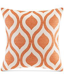 "Madison Park Verona Chenille Ogee Jacquard 20"" Square Decorative Pillow"