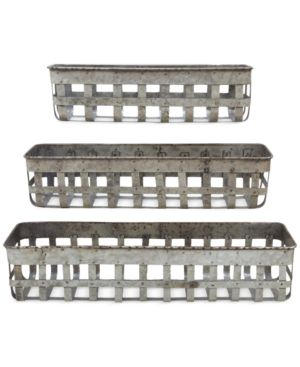 Open-Weave Iron Baskets, Set of 3 4502361