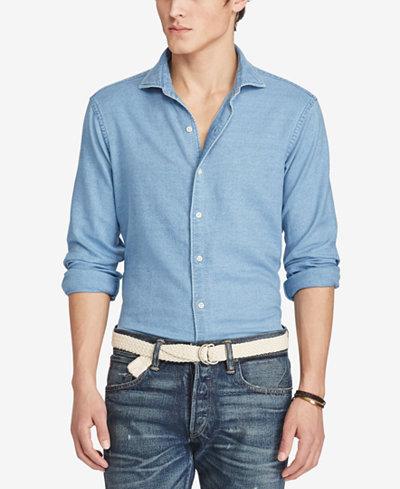 polo ralph lauren mens indigo chambray shirt - Ralph Lauren Indigo