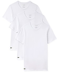 Lacoste Men's 3 Pack Cotton Undershirts