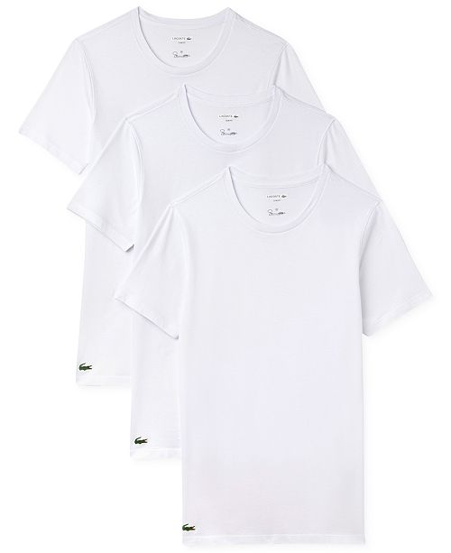 b5a67fbe29 Lacoste Men s 3 Pack Cotton Undershirts   Reviews - Underwear ...