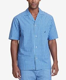 Men's Plaid Cotton Pajama Shirt