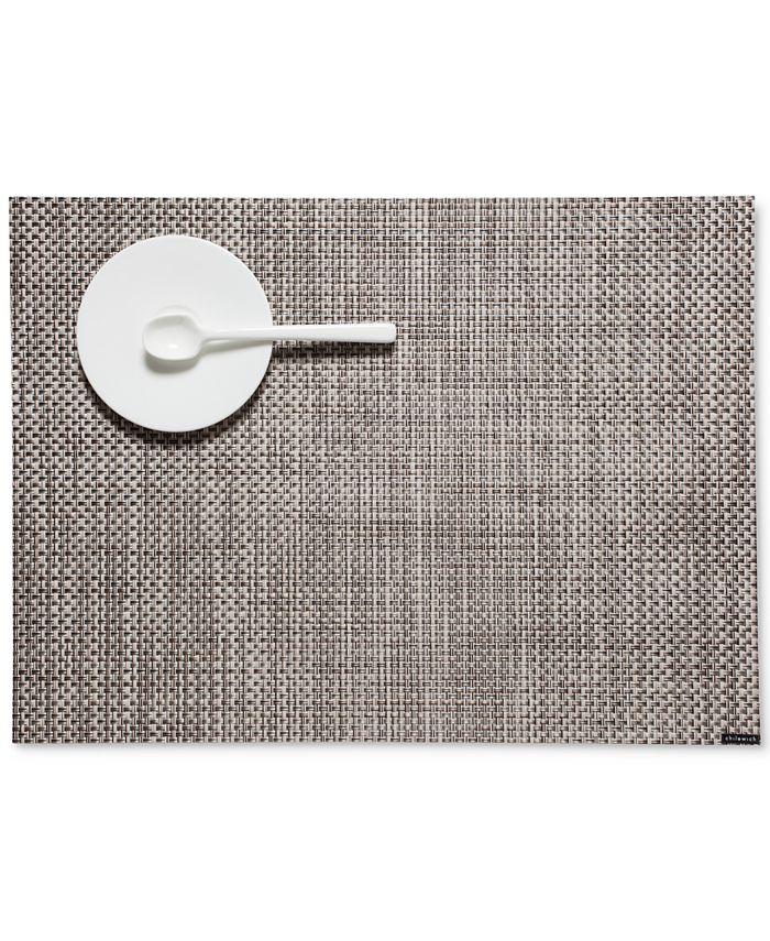"Chilewich - Basketweave Woven Vinyl Placemat, 19"" x 14"""