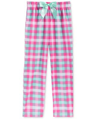 Image of Max & Olivia Plaid Sleep Pants, Little Girls (2-6X), Big Girls (7-16)), Created for Macy's