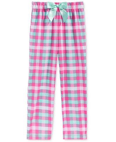 Max & Olivia Plaid Sleep Pants, Little Girls (2-6X), Big Girls (7 ...