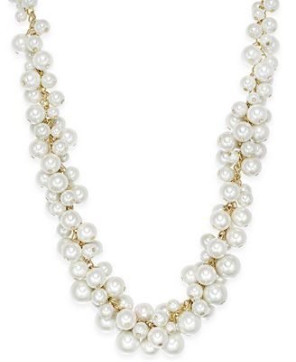 Charter Club Gold-Tone Imitation Pearl Cluster Necklace, Created for Macy's