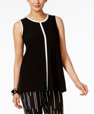 Contrast-Trim Top, Created for Macy's